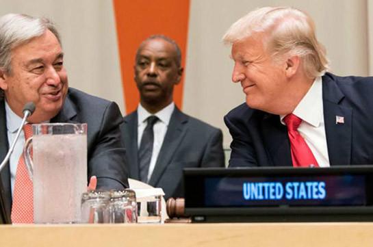 Գուտերիշի և Թրամփի ելույթներով մեկնարկում է ՄԱԿ-ի Գլխավոր ասամբլեայի բարձր մակարդակի շաբաթը
