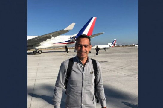 Youri Djorkaeff arrives in Armenia with delegation of French President