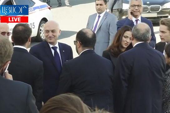 """LIVE.Armenia's PM, France's President visit """"Aznavour"""" Center"""