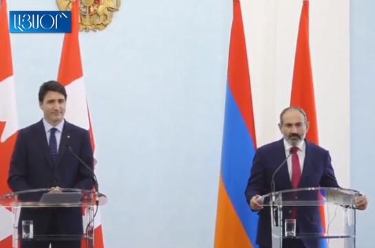 Армения и Канада по основным вопросам имеют общие представления – Никол Пашинян