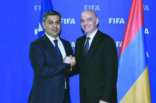 Արթուր Վանեցյանը ՖԻՖԱ-ի նախագահին հրավիրել է Հայաստան. այցը տեղի կունենա 2019 թվականին
