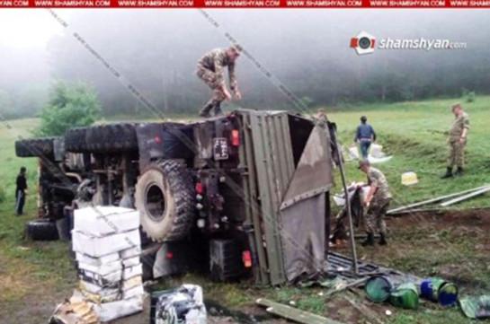 В результате ДТП в Сюникской области погибли и ранены военнослужащие