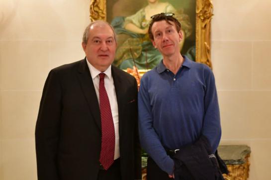 Նախագահ Արմեն Սարգսյանը հանդիպել է Մտքերի գագաթնաժողովի գլխավոր գործընկեր Թիերի Մալերեթի հետ