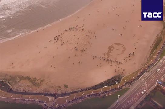 Բրիտանական ծովափերում ստեղծել են Առաջին աշխարհամարտի զոհերի դիմանկարները (Տեսանյութ)