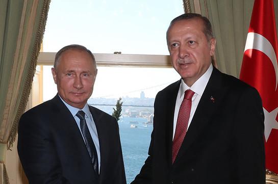Путин 19 ноября встретится с Эрдоганом в Стамбуле