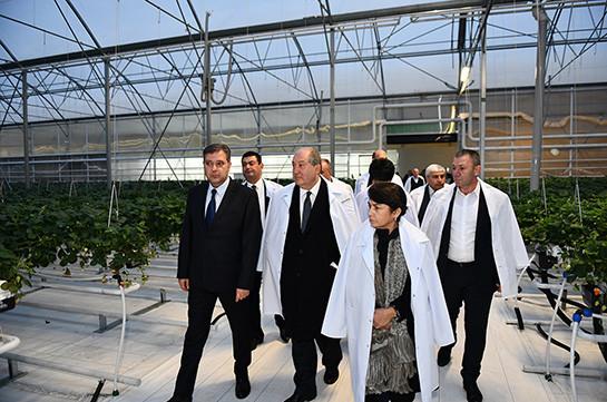 Նախագահ Սարգսյանն այցելել է «Գրին ֆուդ» ջերմոցային տնտեսություն