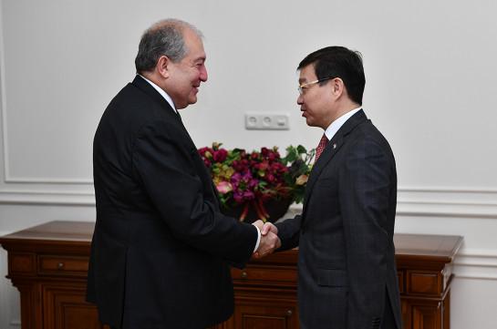 Armenia's President, Kazakh Ambassador discuss cooperation issues