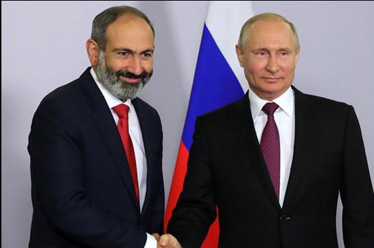 Владимир Путин поздравил Никола Пашиняна с назначением премьером Армении