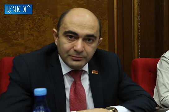 Вы не можете контролировать средства массовой информации – Эдмон Марукян депутатам правящего большинства