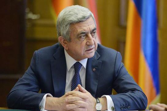Armenia's third president Serzh Sargsyan does not have status of defendant: SIS