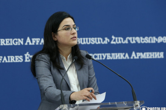 Armenia's MFA takes note of statement of U.S. Department of State about Armenian mission in Syria: MFA spokesperson