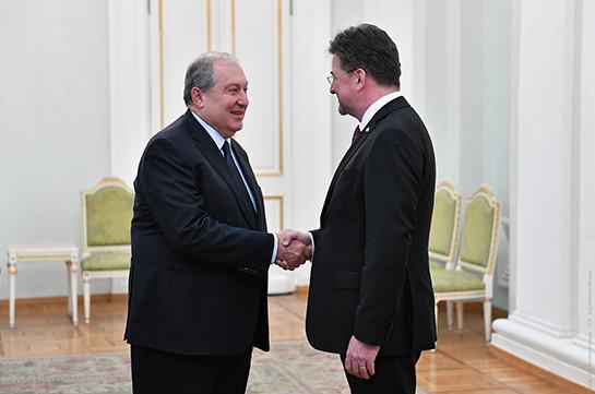 Армен Саркисян встретился с действующим председателем ОБСЕ Мирославом Лайчаком
