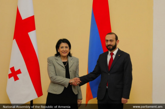 Armenia's NA speaker, Georgia's president exchange pretensions over number of foreign political issues