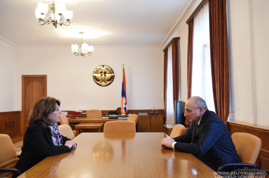 "Artsakh president receives chairperson of the U.S. Western Region affiliate of the ""Hayastan"" All-Armenian Fund"