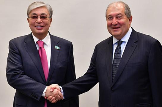 Президент Армении поздравил Касым-Жомарт Токаева с вступлением в должность президента Казахстана