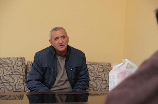 Կարեն Ղազարյանի հայրը այցելել է Հայաստանում գտնվող ադրբեջանցի սահմանախախտին