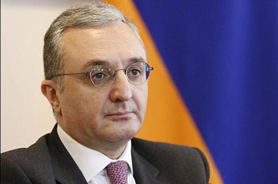 Հայաստանի ԱԳ նախարար Զոհրաբ Մնացականյանն աշխատանքային այցով կմեկնի Փարիզ