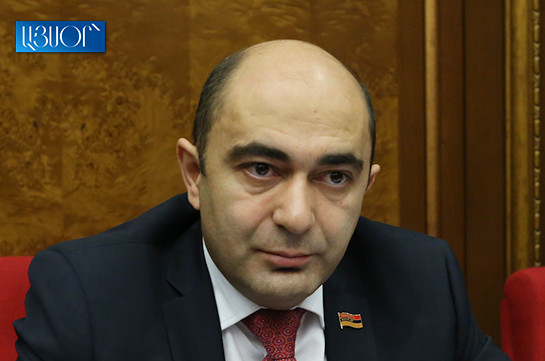Bright Armenia faction head claims about conflict of interests in parliament regarding cement issue