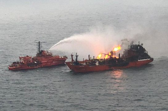 Բալեարյան կղզիների մոտ առևտրային նավ է այրվել