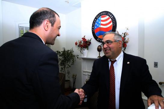 Արմեն Գրիգորյանը Վաշինգտոնում հանդիպել է ANCA-ի և AAA-ի ղեկավարության հետ
