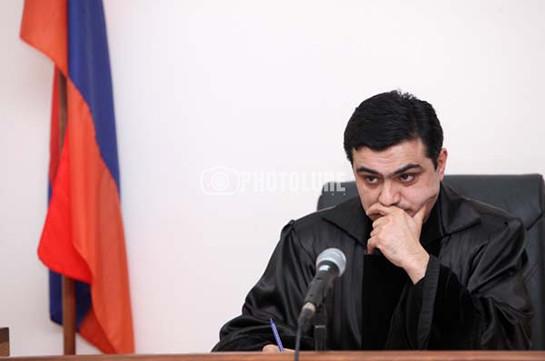 На основании заявления судьи Апелляционного уголовного суда Армении возбуждено уголовное дело
