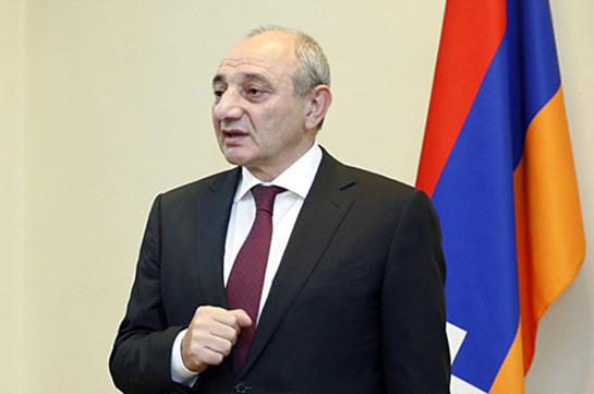 Any step aimed to shutter Armenia-Artsakh unity inadmissible: Bako Sahakyan