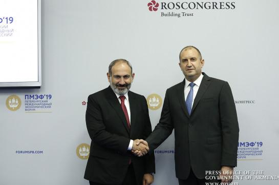 Armenia, Bulgaria to revitalize bilateral cooperation: Nikol Pashinyan meets Rumen Radev