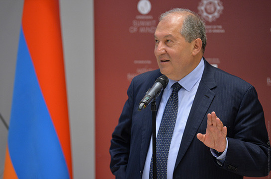 World must recognize Armenia: President Sarkissian