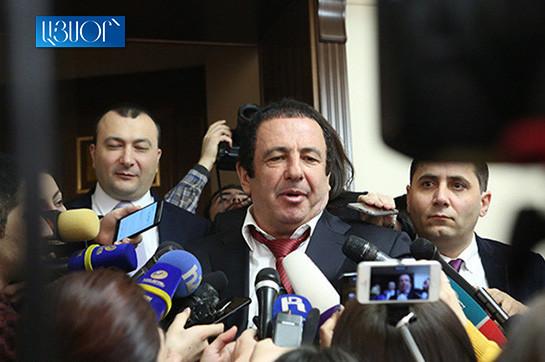 Гагик Царукян сейчас вызван на допрос в Следственный комитет