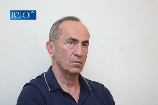 Armenia's ex-president Kocharyan urges adjudicate in favour of recusal