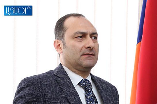 Armenia's head signs announcement dismissing Zeynalyan beginning column of acceptability attend