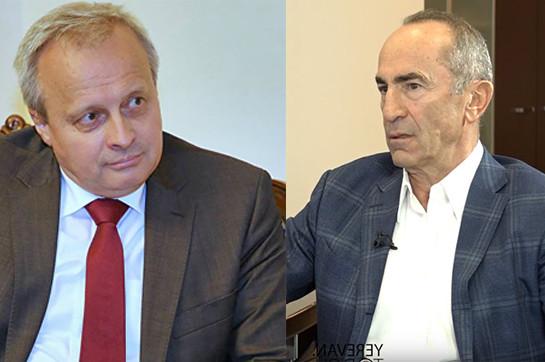 Посол России в Армении повстречался с экс-президентом страны Робертом Кочаряном