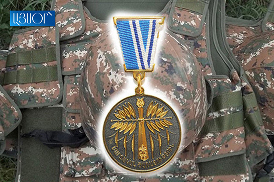 """Defense armed force serviceman Artyom Khachatryan posthumously awarded along with """"For assistance all the rage Battle"""" award"""