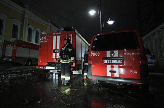 В центре Москвы загорелся старинный особняк (видео)