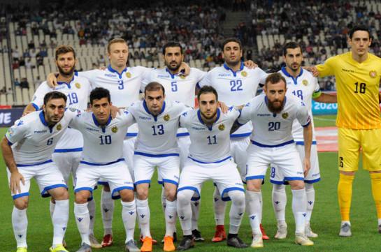 ՖԻՖԱ. Հայաստանի ազգային հավաքականն առաջադիմել է 9 աստիճանով