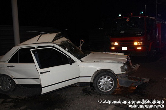 Դիլիջան-Իջևան ավտոճանապարհին ավտոմեքենան ընկել է ջրատարը. կան տուժածներ