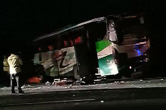 Indonesia bus crashes as passenger grabs steering wheel