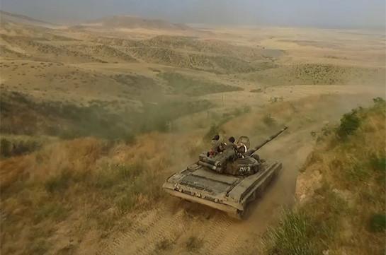 Военные учения в Нагорном Карабахе продолжаются (Видео)