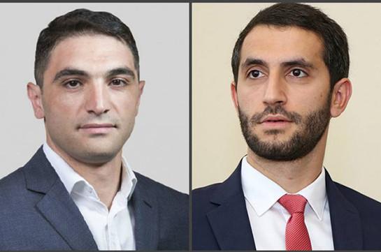 Hakob Simidyan, Ruben Rubinyan elected deputy chairs of Civil Contract party