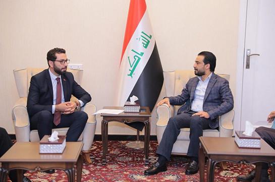 Պատգամավոր Ռուստամ Բաքոյանը Սինջարի եզրդիների ցեղասպանության հարցն է քննարկել Իրաքի խորհրդարանի խոսնակի հետ