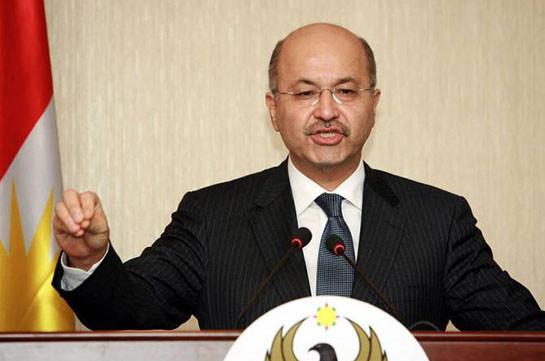 Իրաքի նախագահը բացառել է  Իրանին հարվածելու համար իր տարածքն օգտագործելու հնարավորությունը