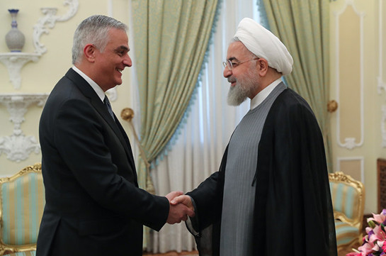 Armenia's deputy PM meets with President of Iran Hasan Rouhani