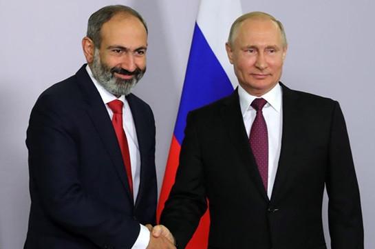 Nikol Pashinyan holds phone conversation with Vladimir Putin