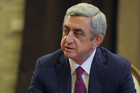 What Constitution says is obliging: Serzh Sargsyan
