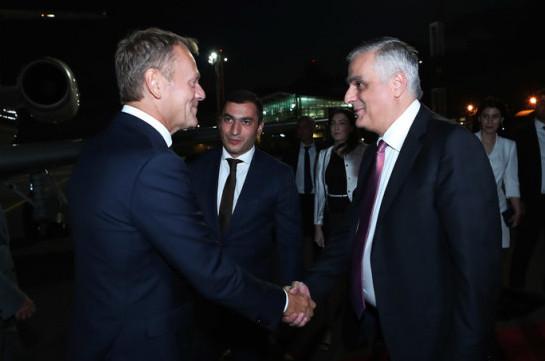 Дональд Туск прибыл в Армению