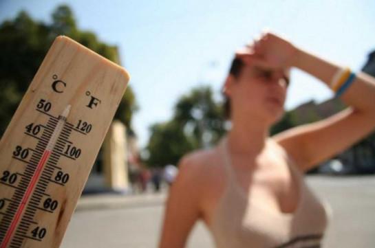 Температура воздуха в Ереване, Араратской, Армавирской областях 21-23 июля достигнет +42 градусов