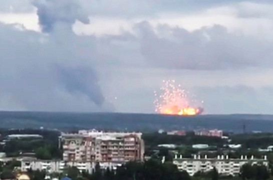 Russian military base explosion kills two, injures six