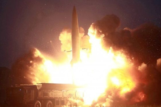 North Korea tests 'short-range ballistic missiles'