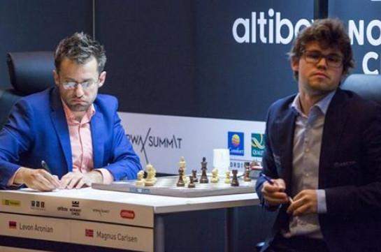 Grand Chess Tour: Левон Аронян одержал победу над чемпионом мира Магнусом  Карлсеном