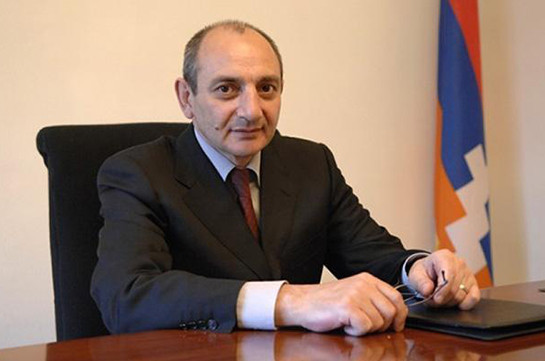 Artsakh President Bako Sahakyan congratulates Russian Ambassador Vladimir on his 90th birthday